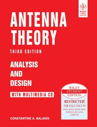 Antenna Theory: Analysis And Design, 3Rd Ed  by  Constantine A. Balanis