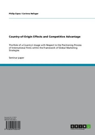 Country-of-Origin Effects and Competitive Advantage: The Role of a Countrys Image with Respect to the Positioning Process of International Firms within the Framework of Global Marketing Strategies Philip Sipos