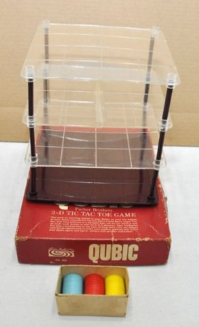 Qubic ... 3-D Tic Tac Toe Game ... Parker Brothers  by  Parker Brothers