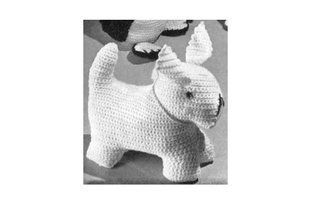 CROCHETED DOG TOY. Vintage Crochet Pattern  by  Unknown