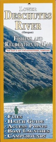Lower Deschutes River Fishing and Recreation Map  by  John Shewey