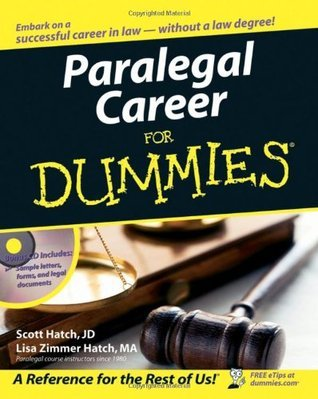 Paralegal Career For Dummies Scott Hatch