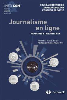 Journalisme en ligne Amandine Degand