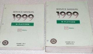 1999 Chevrolet Metro Service Manuals (2 Volume Set)  by  General Motors Corporation