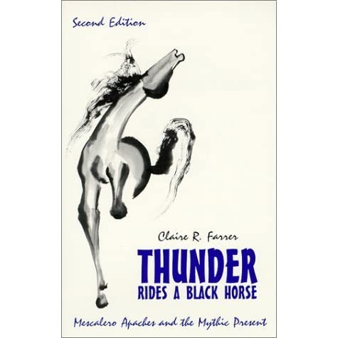 An analysis of the mythic present in the book thunder rides a black horse by claire farrer