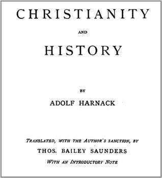 Christianity and History Adolf Harnack