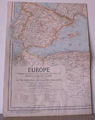 EUROPE. Full-color National Geographic Map. 1969. National Geographic Society