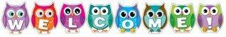Colorful Owl Welcome Bulletin Board Set Carson-Dellosa Publishing