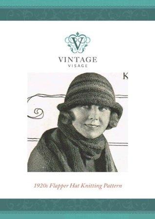 1920s Downton Abbey style flapper hat- knitting pattern-2 needles Vintage Visage