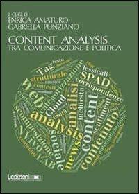 Content analysis: Tra comunicazione e politica  by  Enrica Amaturo