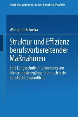 Struktur Und Effizienz Berufsvorbereitender Massnahmen  by  Wolfgang Kokoska