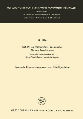 Spezielle Koppelkurvenrast- Und Schaltgetriebe Walther Meyer Zur Capellen