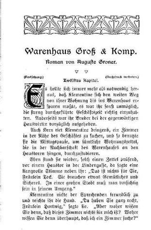Warenhaus Gross & Komp 3 Original-Scan von 1907  by  Auguste Groner