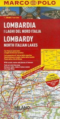 Italy - Lombardy, North Italian Lakes Marco Polo Map: 1:200 000  by  Marco Polo