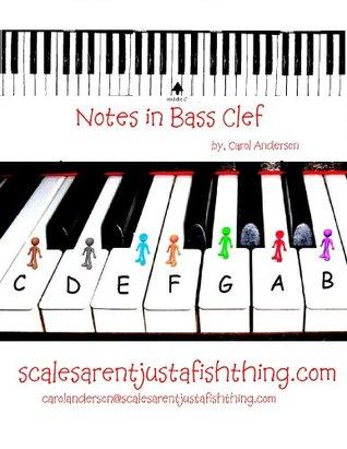 Bass Clef Piano or Cello Note Locator Carol Anderson
