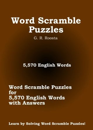 Word Scramble Puzzles G. R. Roosta