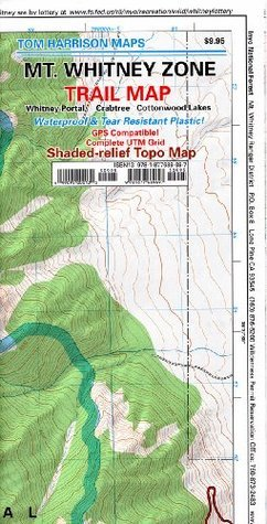 Mt. Whitney Zone Trail Map: Whitney Portal, Crabtree and Cottonwood Lakes  by  Tom Harrison Maps