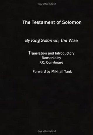 The Testament Of Solomon  by  Anonymous