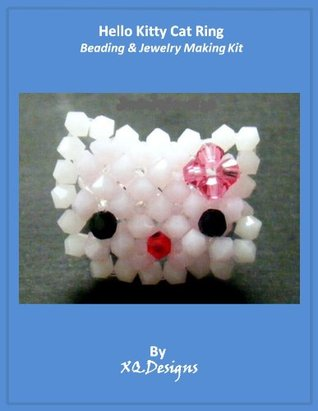 Hello Kitty Cat Ring Beading & Jewelry Making Tutorial Series T27  by  XQDesigns