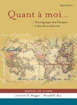 Quant a moi...: Témoignages des Français et des Francophones Jeannette D. Bragger