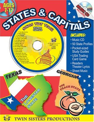 States & Capitals Workbook  by  Twin Sisters Productions