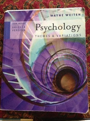Psychology Custom Edition  by  Wayne Weiten