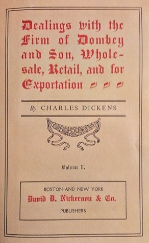 Dombey And Son: Volume I Charles Dickens