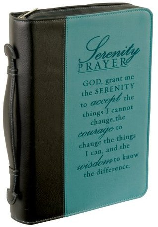 Serenity Prayer Large Two-tone Bible / Book Cover  by  Christian Art Gifts
