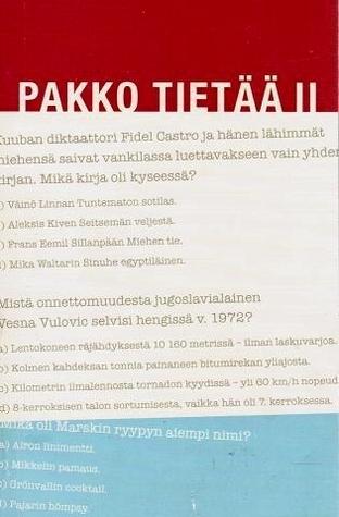 Pakko tietää II  by  Suomen Kuvalehti