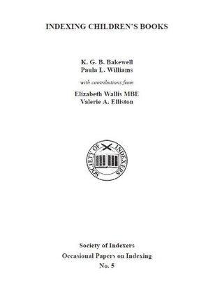 Indexing childrens books  by  Elizabeth J. Wallis