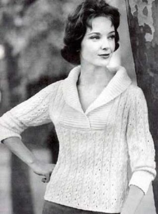 Womans Knitted Vintage Slipover Sweater Patterns, Coat Sweater Patterns and Cardigan Sweater Patterns  by  Unknown