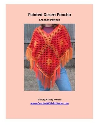 Painted Desert Poncho Crochet Pattern Joy Prescott