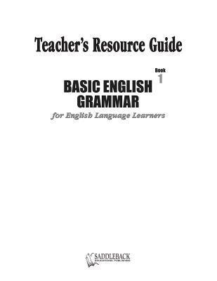 Basic English Grammar Book 1 Teachers Resource Guide CD Carol Hegarty