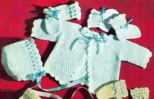 Crocheted Beauty Baby Set - Crochet Pattern for Sweater, Booties, Mittens and Hat - Download Kindle Baby Crochet Pattern  by  Bookdrawer