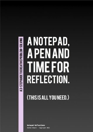 A notepad, a pen and time for reflection.  by  Stefan Ekwall