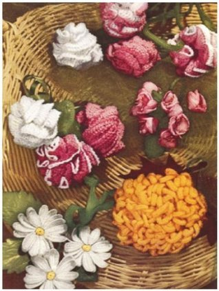#0767 FLOWER GARDEN VINTAGE CROCHET PATTERN  by  Princess of Patterns