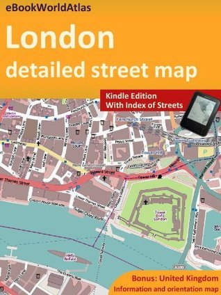 Map of London  by  eBook World Atlas Team