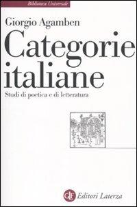 Categorie italiane. Studi di poetica e di letteratura  by  Giorgio Agamben