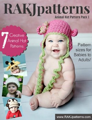 Animal Hat Crochet Patterns Vol. 1 RAKJpatterns by Kristi Simpson