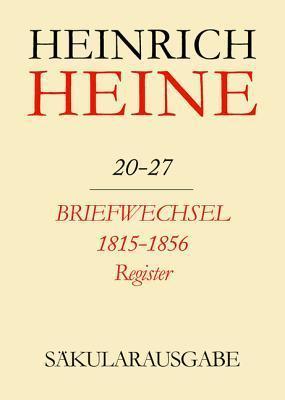 Briefwechsel 1815-1856. Register Christa Stocker