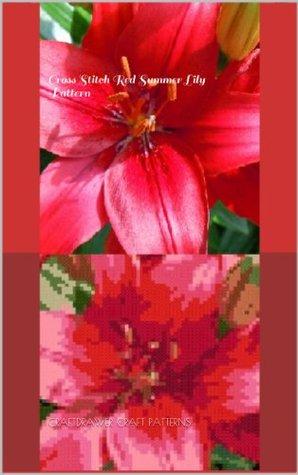 Cross Stitch Red Summer Lily Pattern  by  Craftdrawer Craft Patterns