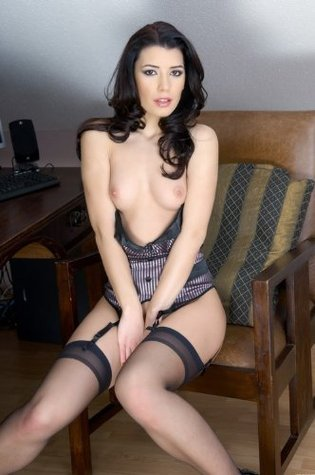 Stockings Sex : Babe Performing Stockings Sex With Shapely Body Sexy And Hot Michelle Chung