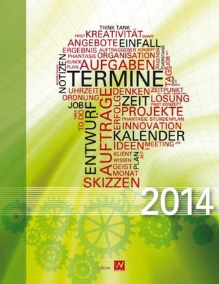 Buchkalender 2014 Abstrakt: Design-Kalender mit 140 Seiten Manu Wirtz