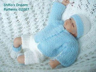 Little Boy Blue Baby Crochet Pattern 64 USA  by  ShiFios Patterns
