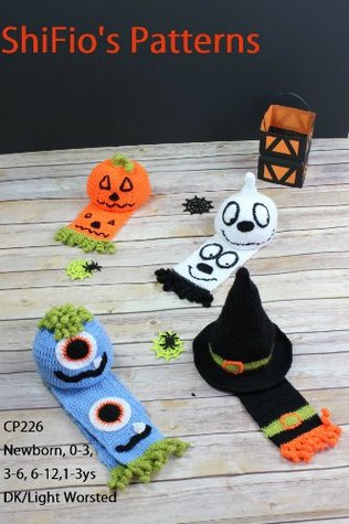 CROCHET PATTERN BABY CHILD HALLOWEEN BEANIE 5 SIZES #226 USA Terms  by  ShiFios Patterns