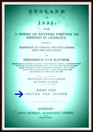 England in 1835 V2 Frederick Von Raumer