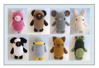 Little Animals Amigurumi Pattern Set Amy Gaines