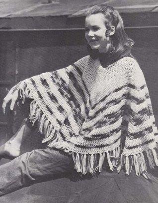 Easy 2 Color Hippie Poncho Crochet Pattern The Crochet Kid