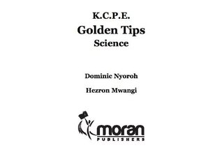 KCPE Golden Tips Science Hezron Mwangi