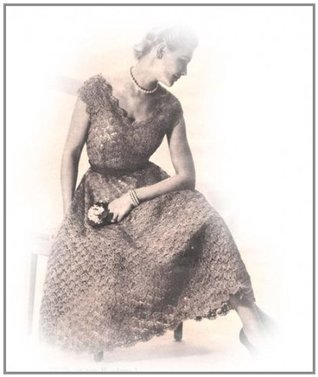 Scoop Neck Shell Stitch Ribbon Dress Evening Gown Crochet Pattern EBook Download  by  Unknown